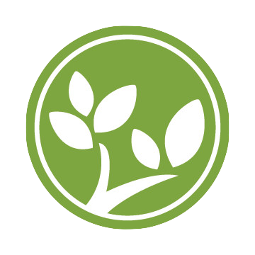 The Forest Logo: A green circle with white leaves and branches.