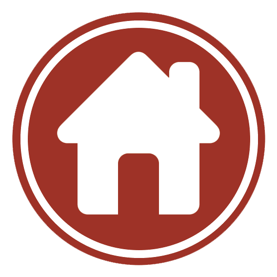 The Home Study logo, a red circle with a white house icon in the middle.