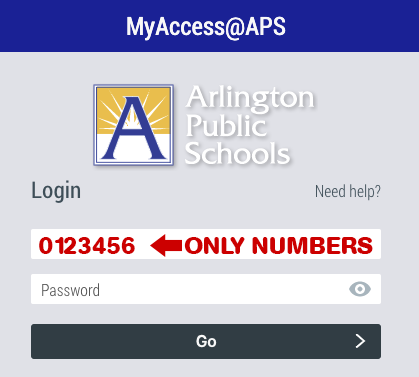 A picture of the MyAccess sign on screen.