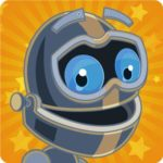 The RazKids app icon, featuring a smiling metal robot with blue eyes on a yellow background.