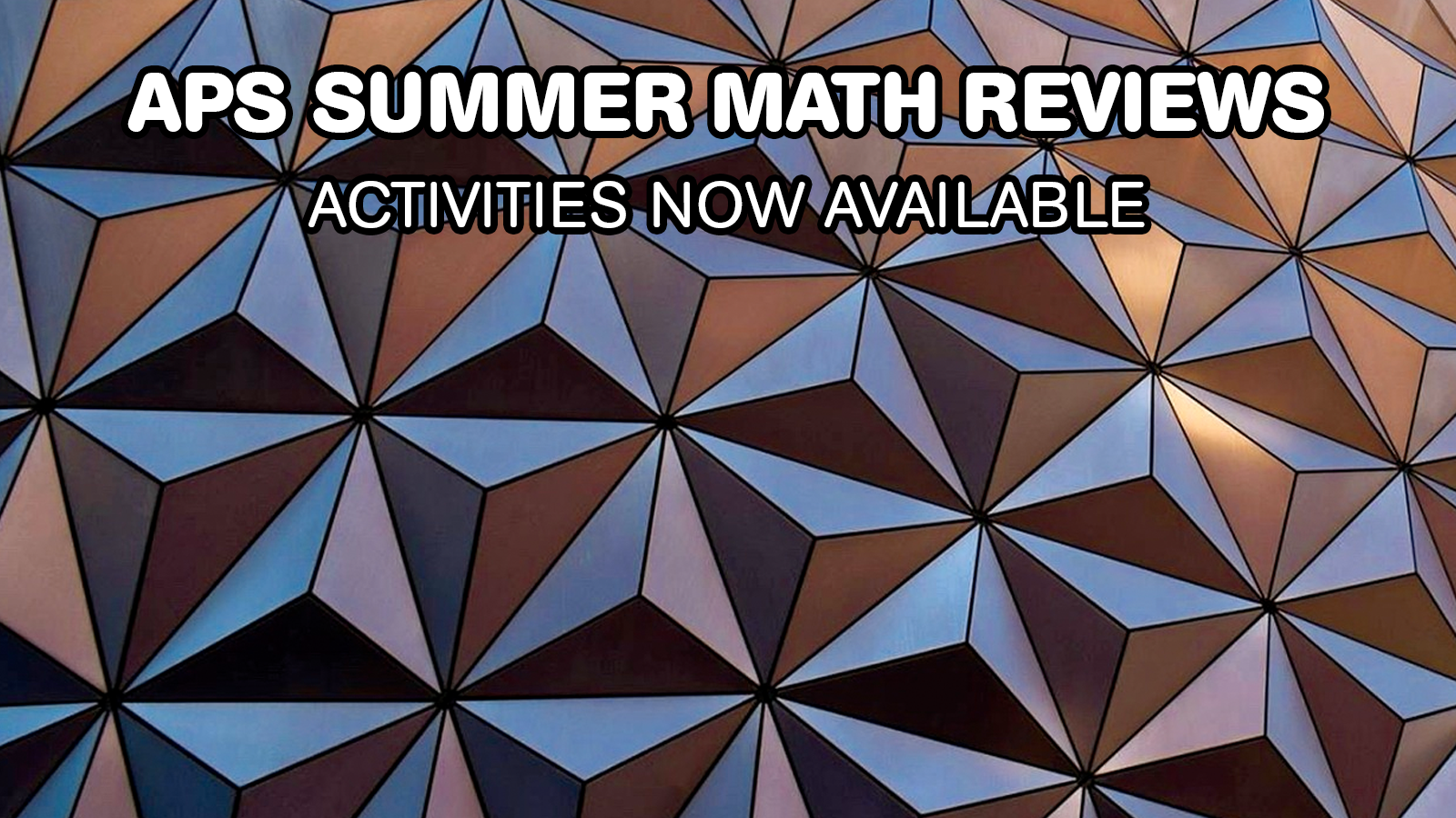 Summer Math Reviews