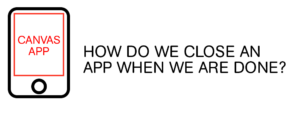 How do we close an app when we are done?