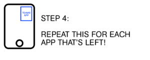 Step 4: Repeat this for each app that's left!