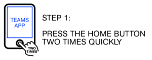 Step 1: Press the home button two times quickly