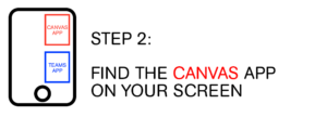 Step 2: Find the Canvas app on your screen