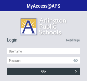MyAccess Login Screen