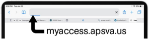 MyAccess in Safari