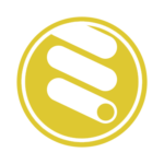 A stylized icon of a curly tube slide