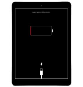 iPad Low Battery Screen