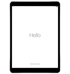 iPad Hello Screen