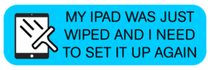 Мой iPad был только что удален, и мне нужно снова его настроить