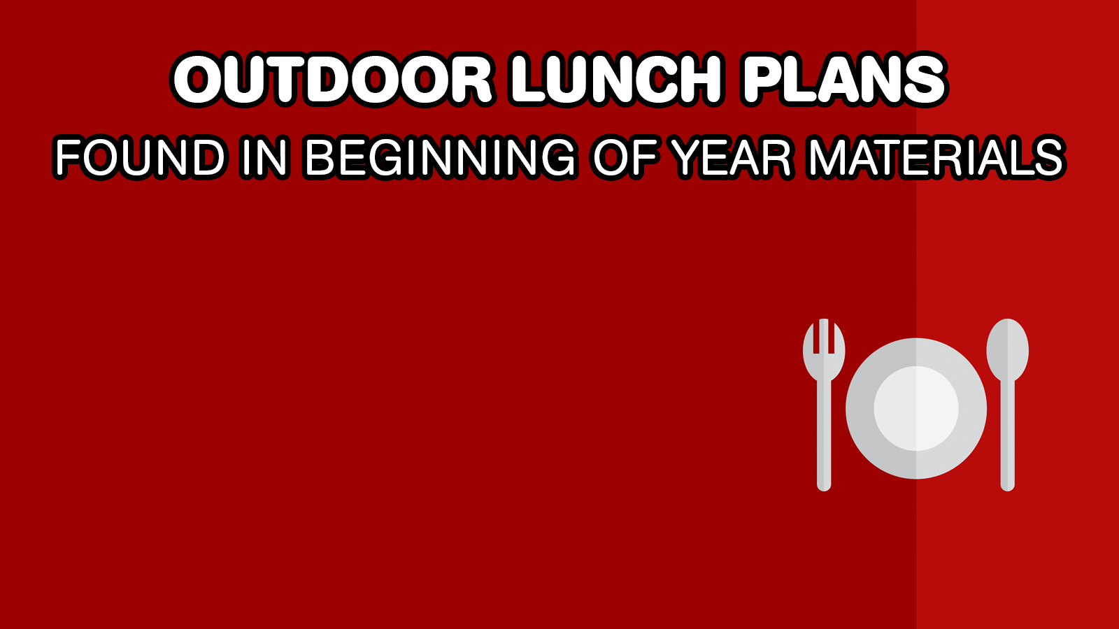 Plans de déjeuner en plein air
