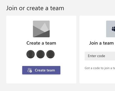 Une capture d'écran du processus de configuration des équipes MS