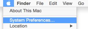 Le menu principal d'un ordinateur Mac, affichant les Préférences Système en surbrillance